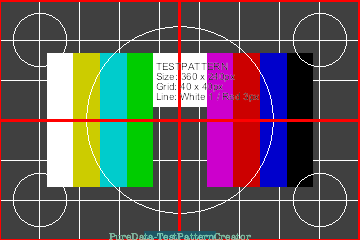 Video projection test pattern generator | PURE DATA forum~